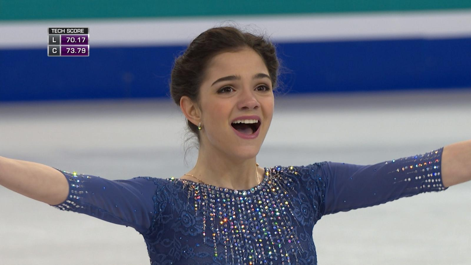 evgenia medvedeva  16  wins title  sets record points