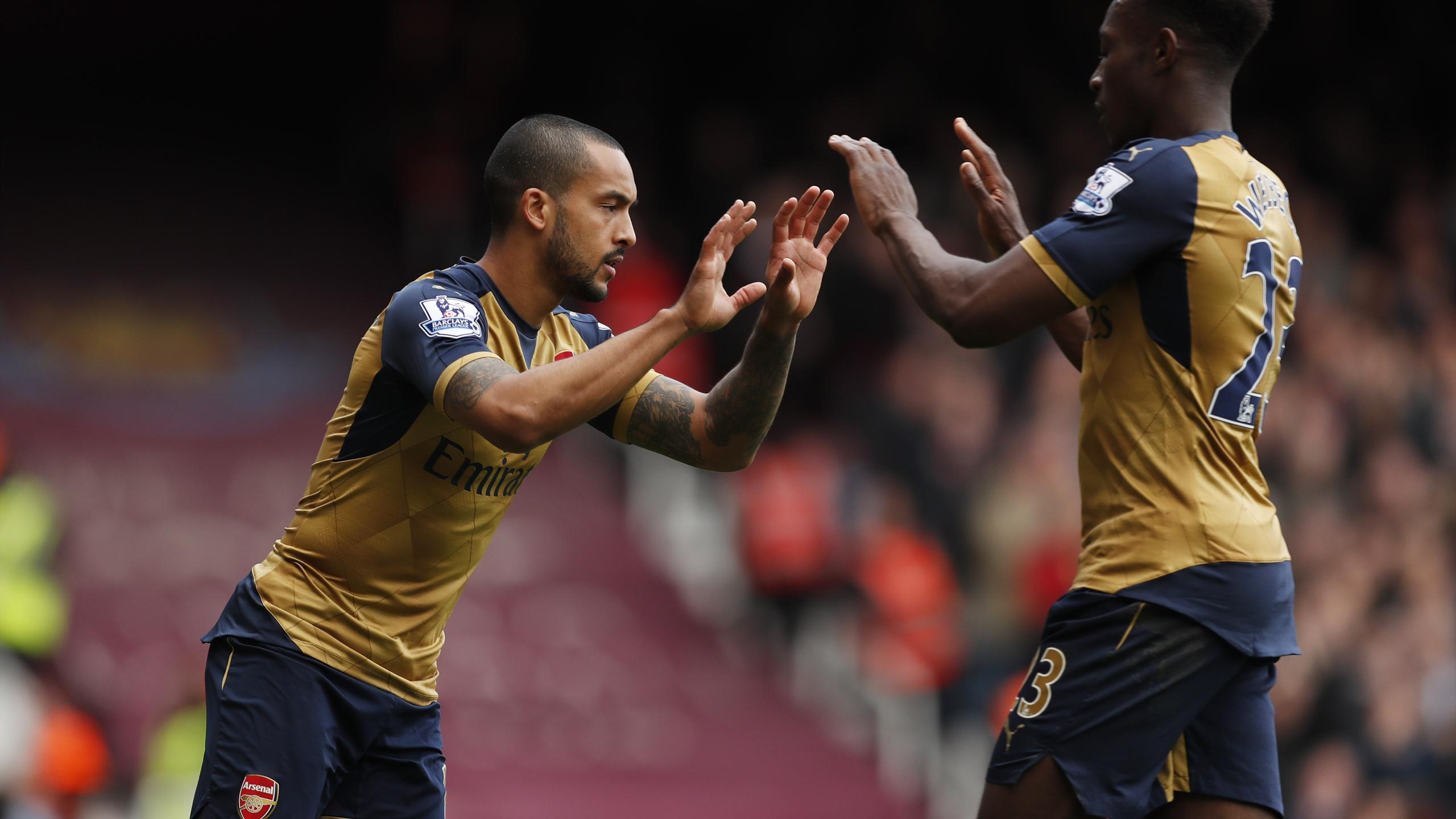 Arsenal's Theo Walcott comes on as substitute for Danny Welbeck