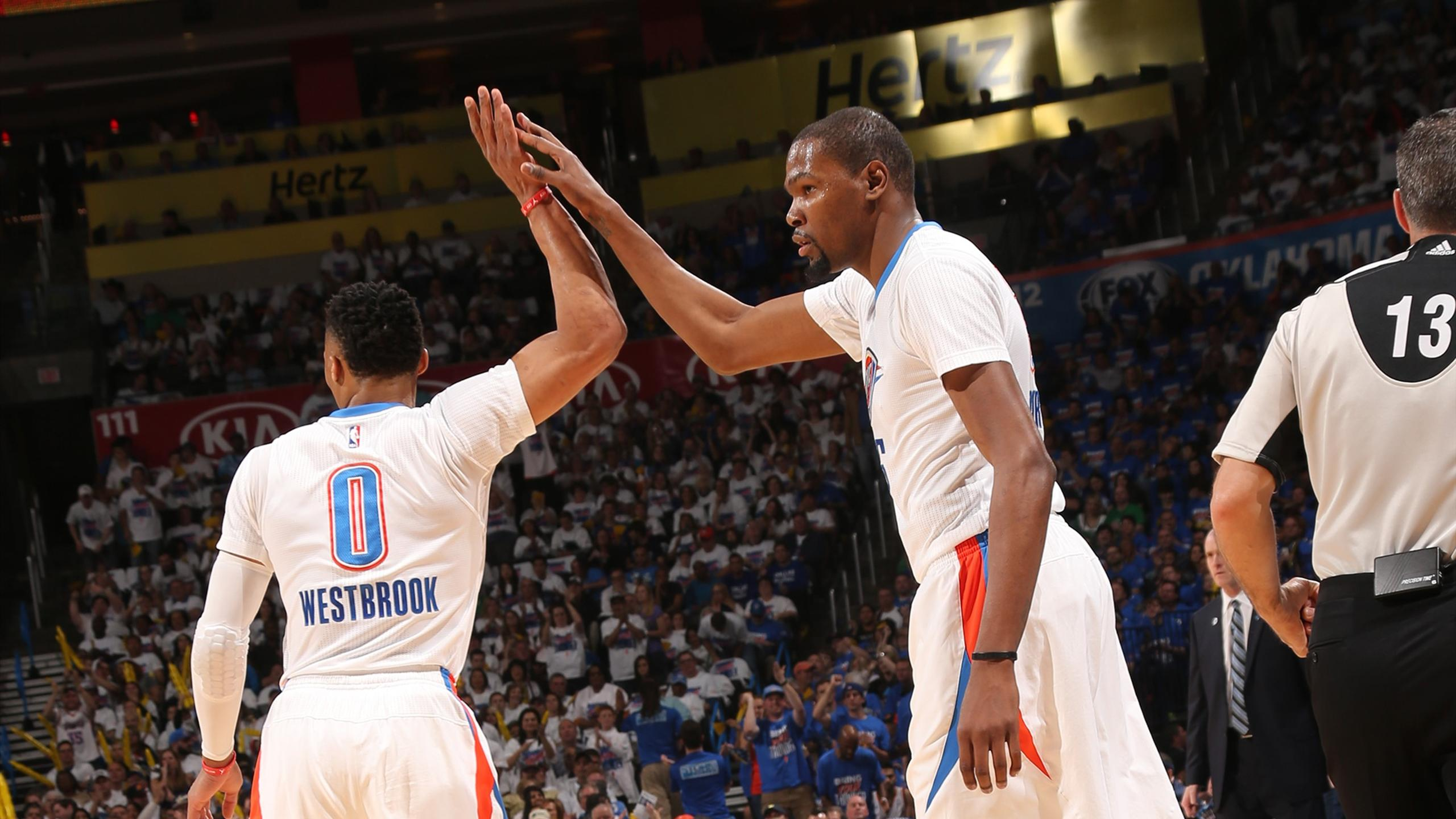 Le duo Russell Westbrook - Kevin Durant (Oklahoma City)