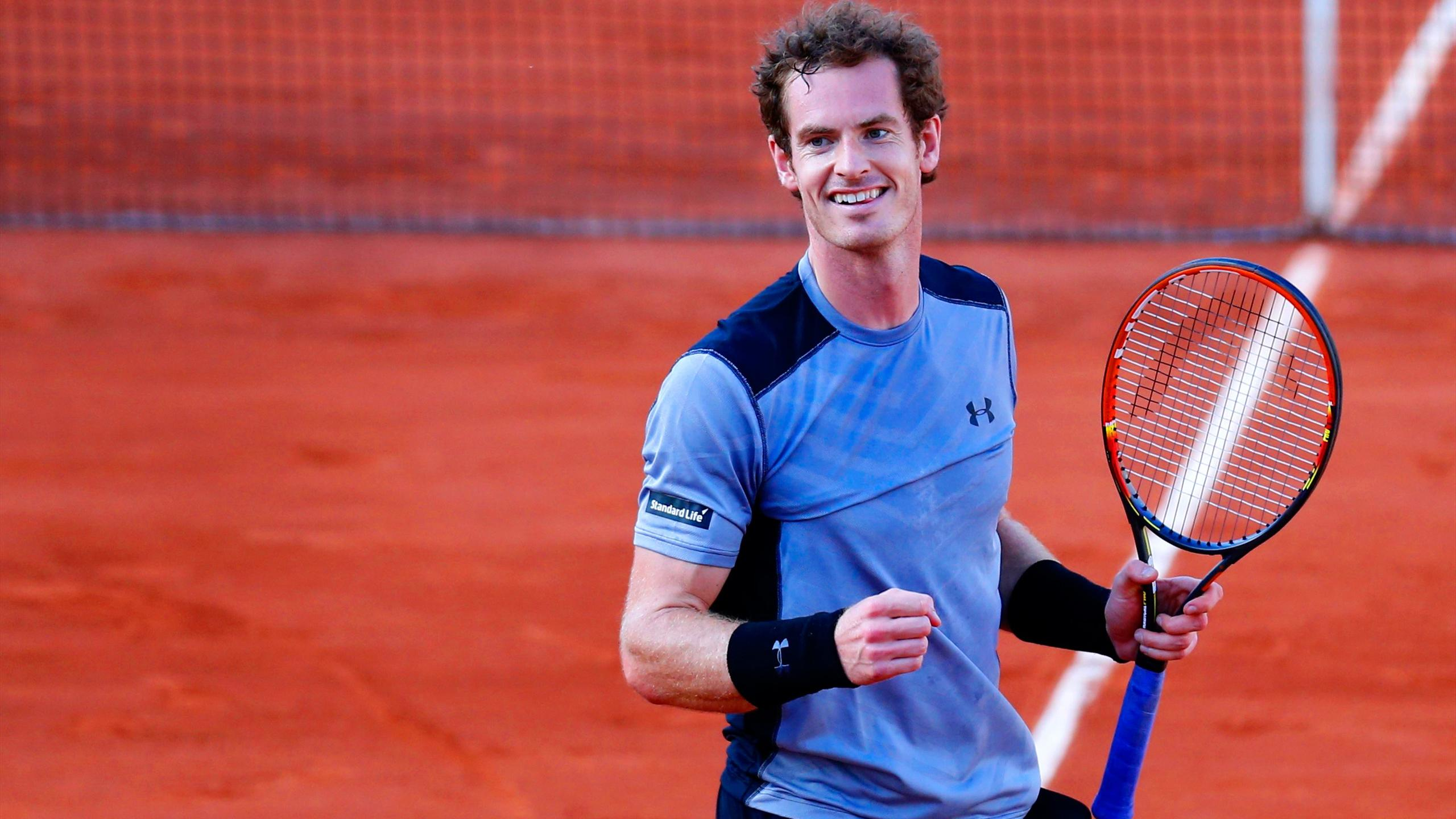 Britain's Andy Murray playing at the French Open at Roland Garros