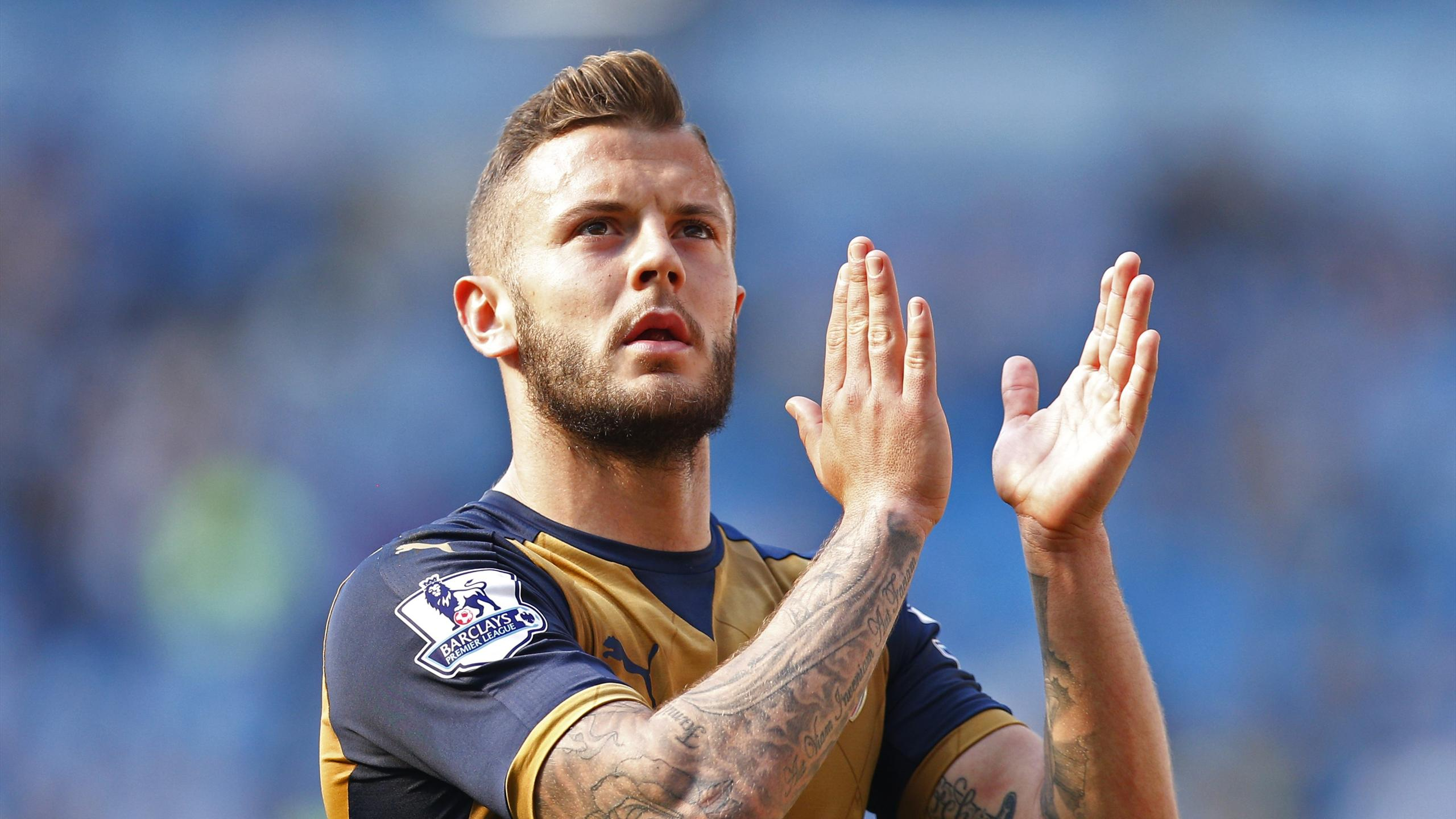 Arsenal's Jack Wilshere applauds fans