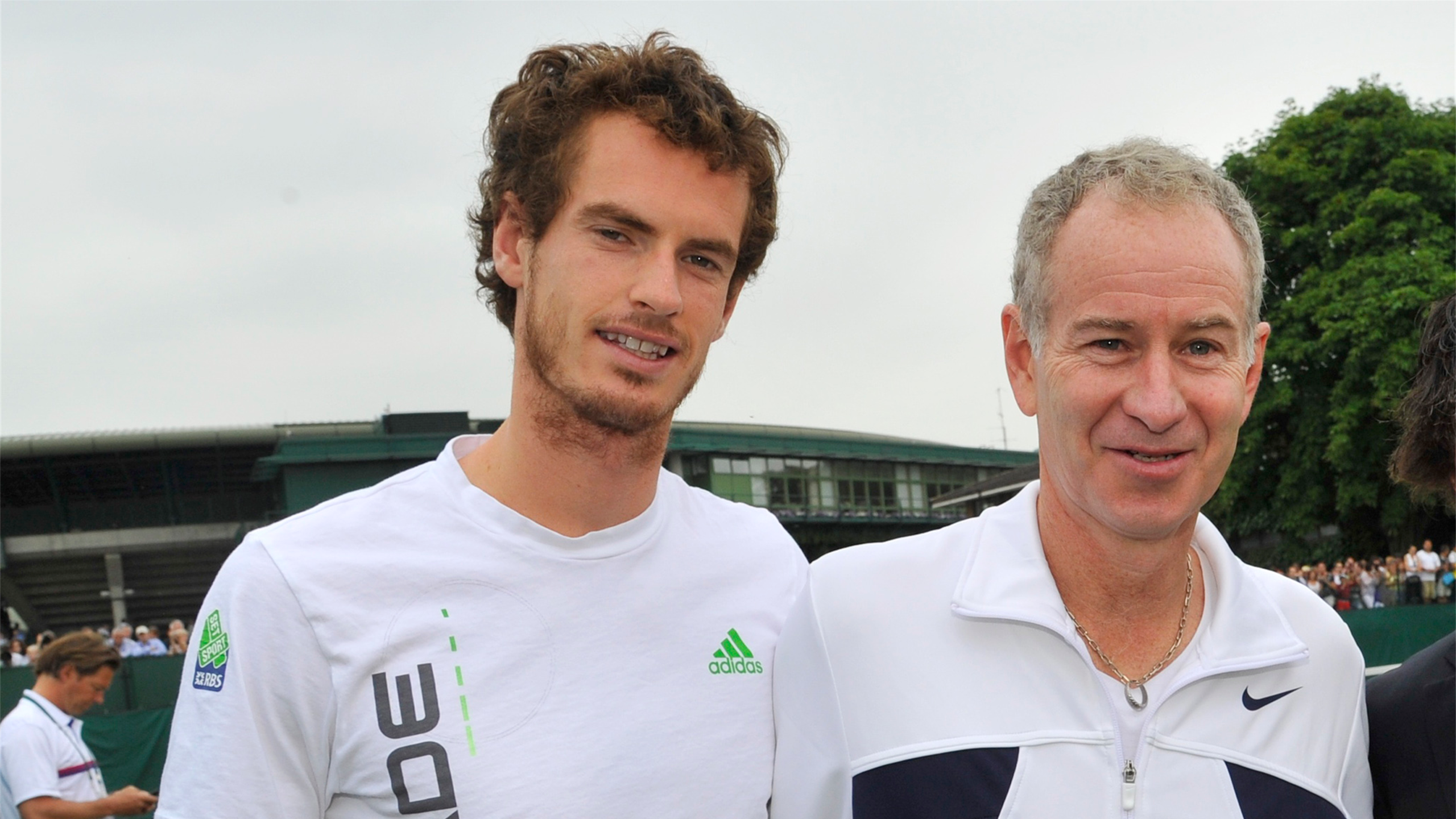 British number one Andy Murray with tennis legend John McEnroe