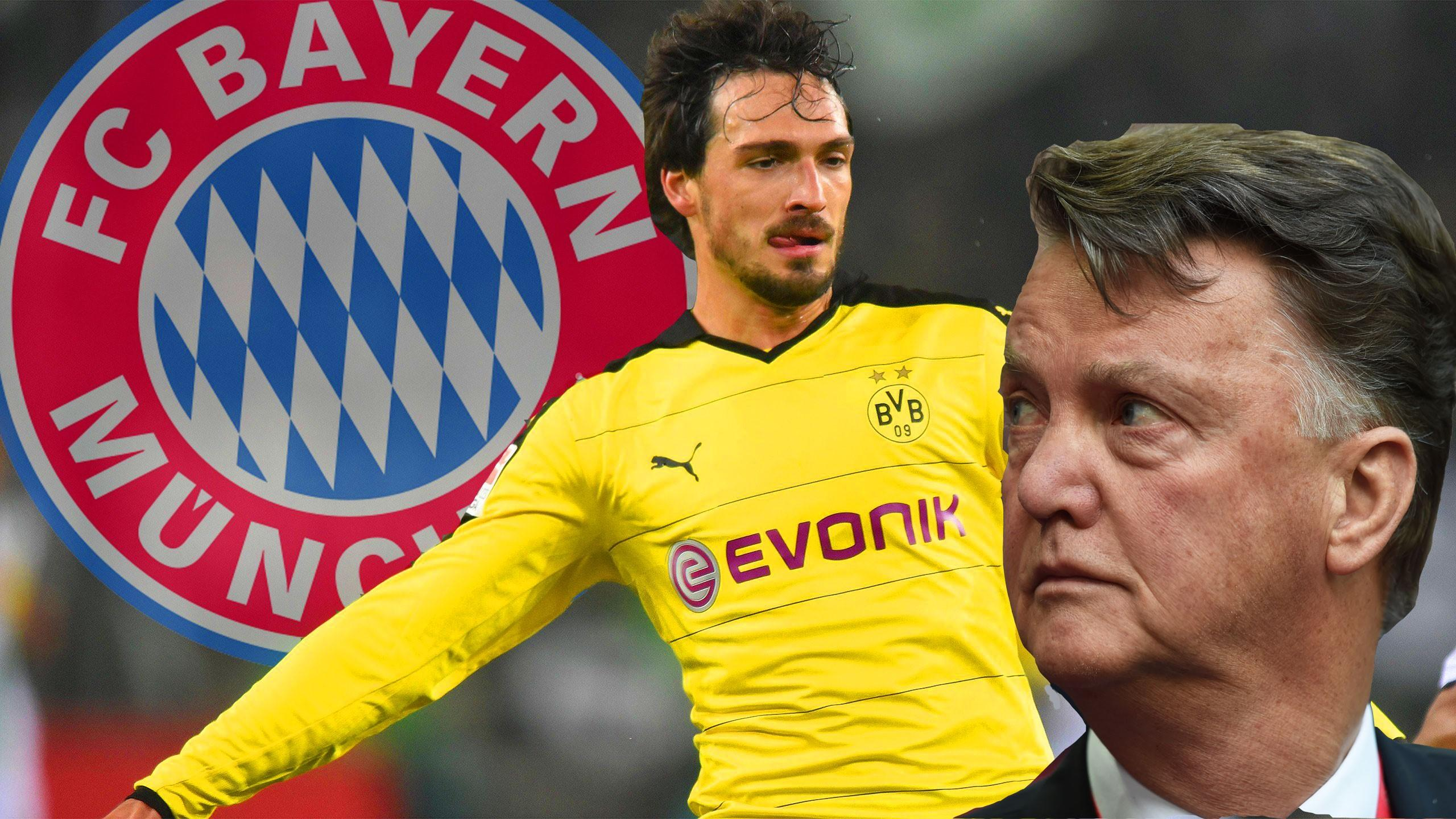 Mats Hummels joins Bayern Munich and Louis van Gaal looks annoyed
