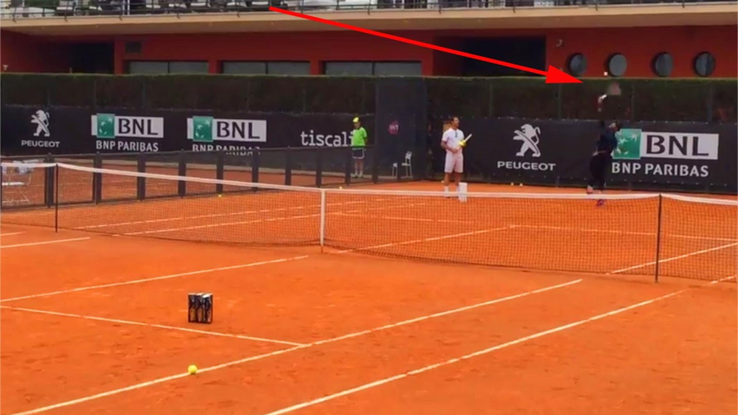 Serena Williams flaunts 'unbelievable' serving skill in training (Italian Open on Twitter)