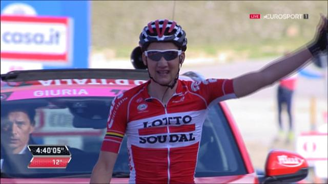 Wellens takes solo win on Giro sixth stage, Dumoulin extends GC lead