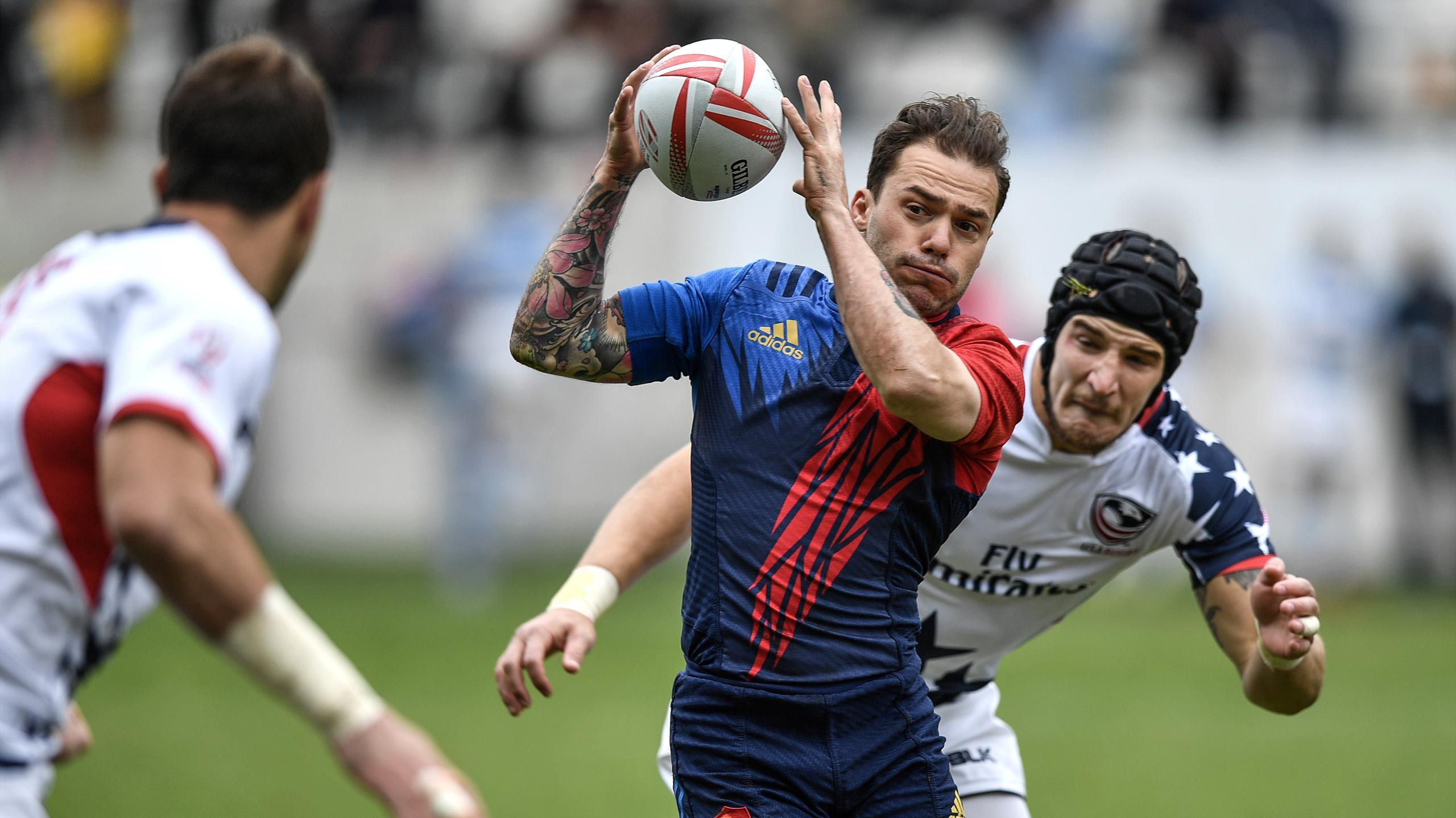 Terry Bouhraoua (France 7) face aux Etats-Unis lors du tournoi de Paris - 14 mai 2016