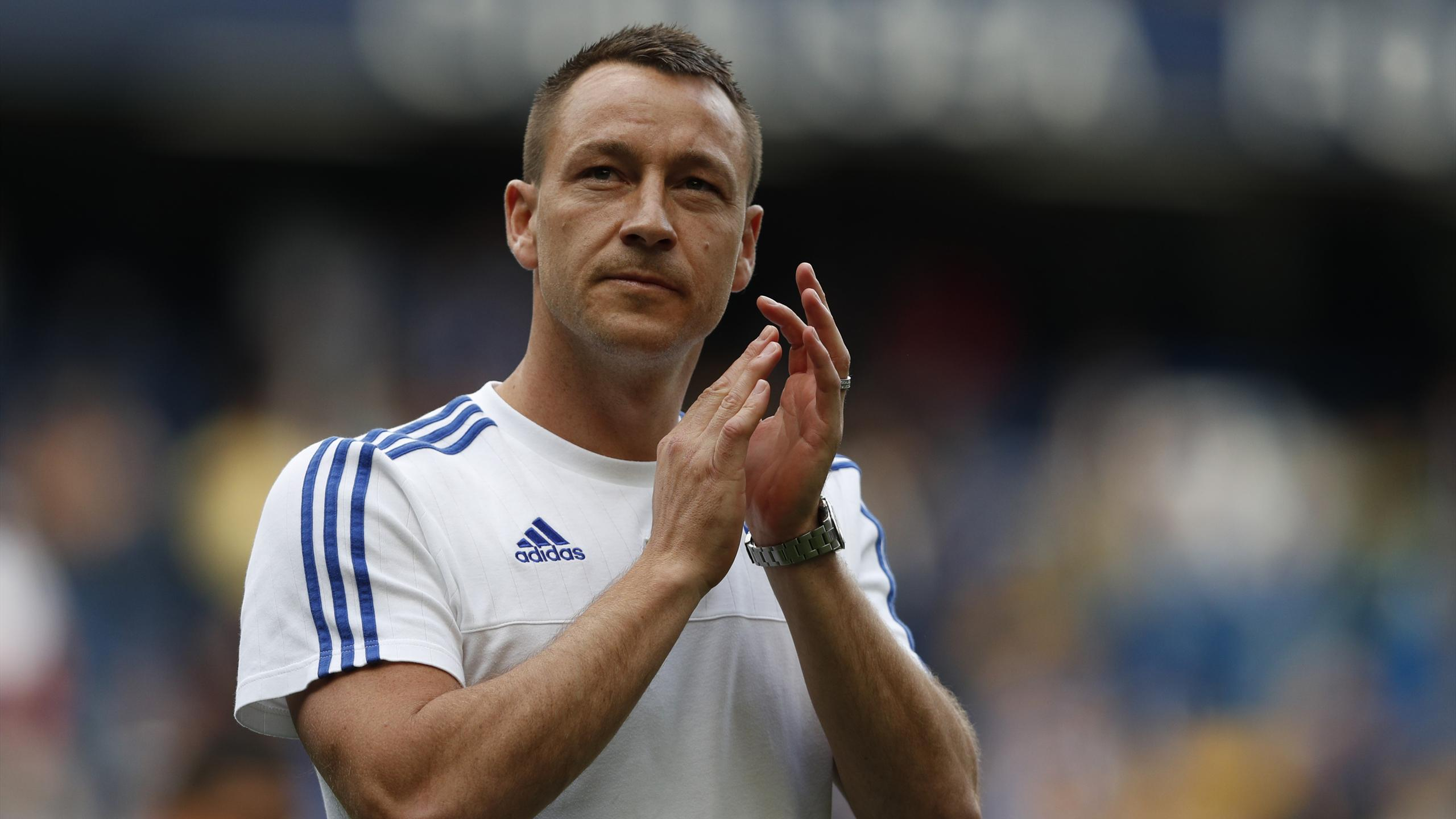 John Terry salutes the crowd
