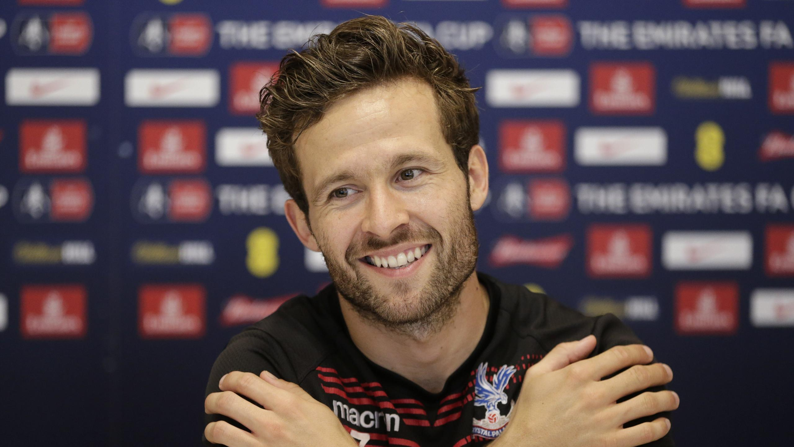 Yohan Cabaye of Crystal Palace during a press conference