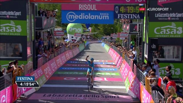 Stage 19 finish: Nibali takes win on day of drama