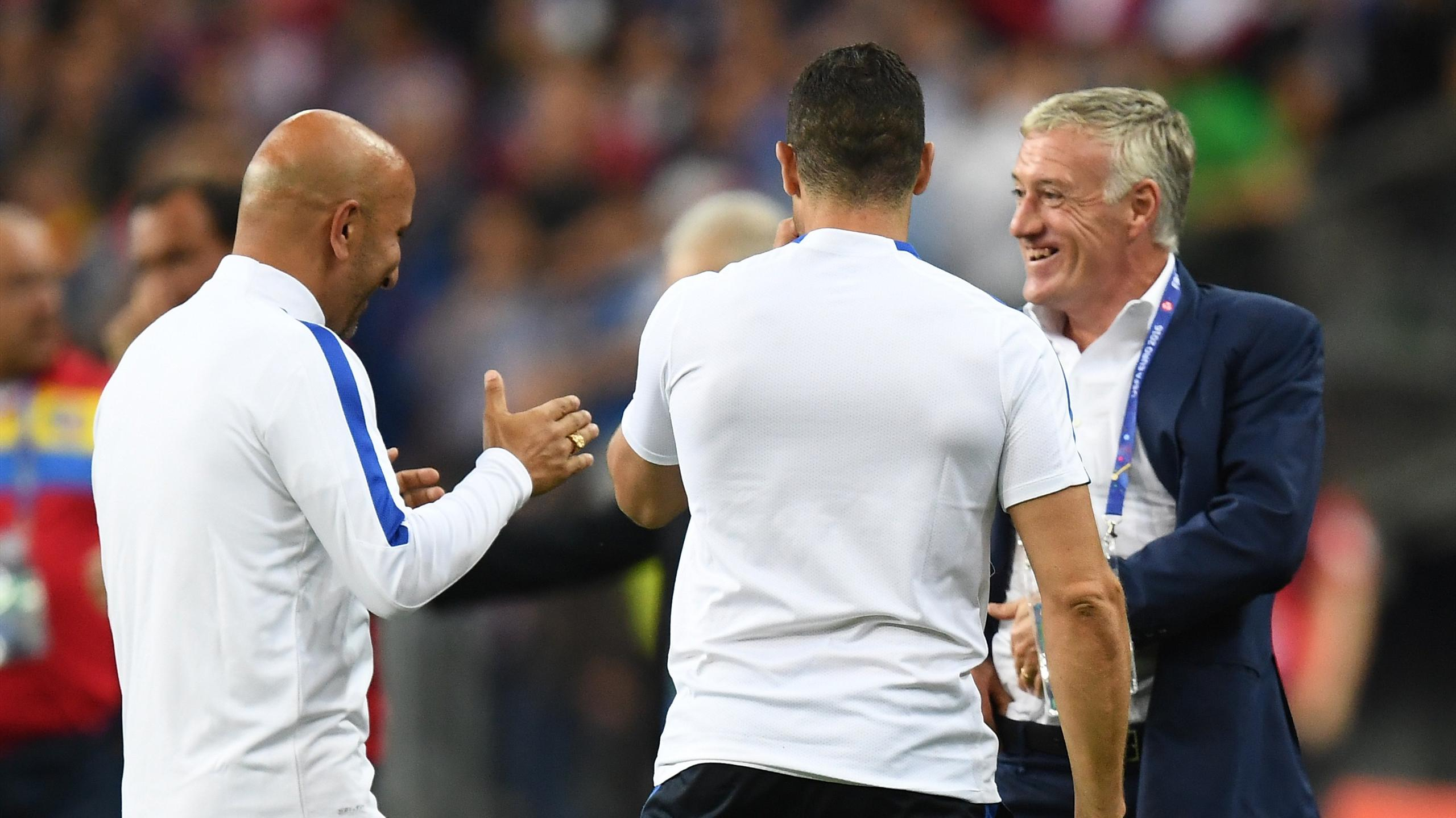 La joie de Didier Deschamps à l'issue de France-Roumanie