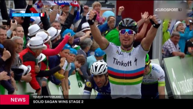 Peter Sagan victorious on stage two of Tour de Suisse