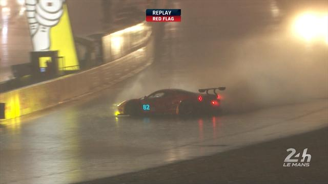 Car spins 360 degrees in build-up to 24 Hours of Le Mans