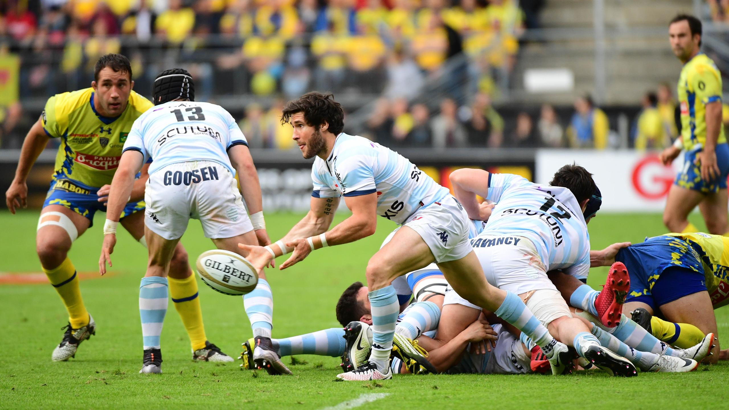 Maxime Machenaud (Racing 92) face à Clermont - 17 juin 2016