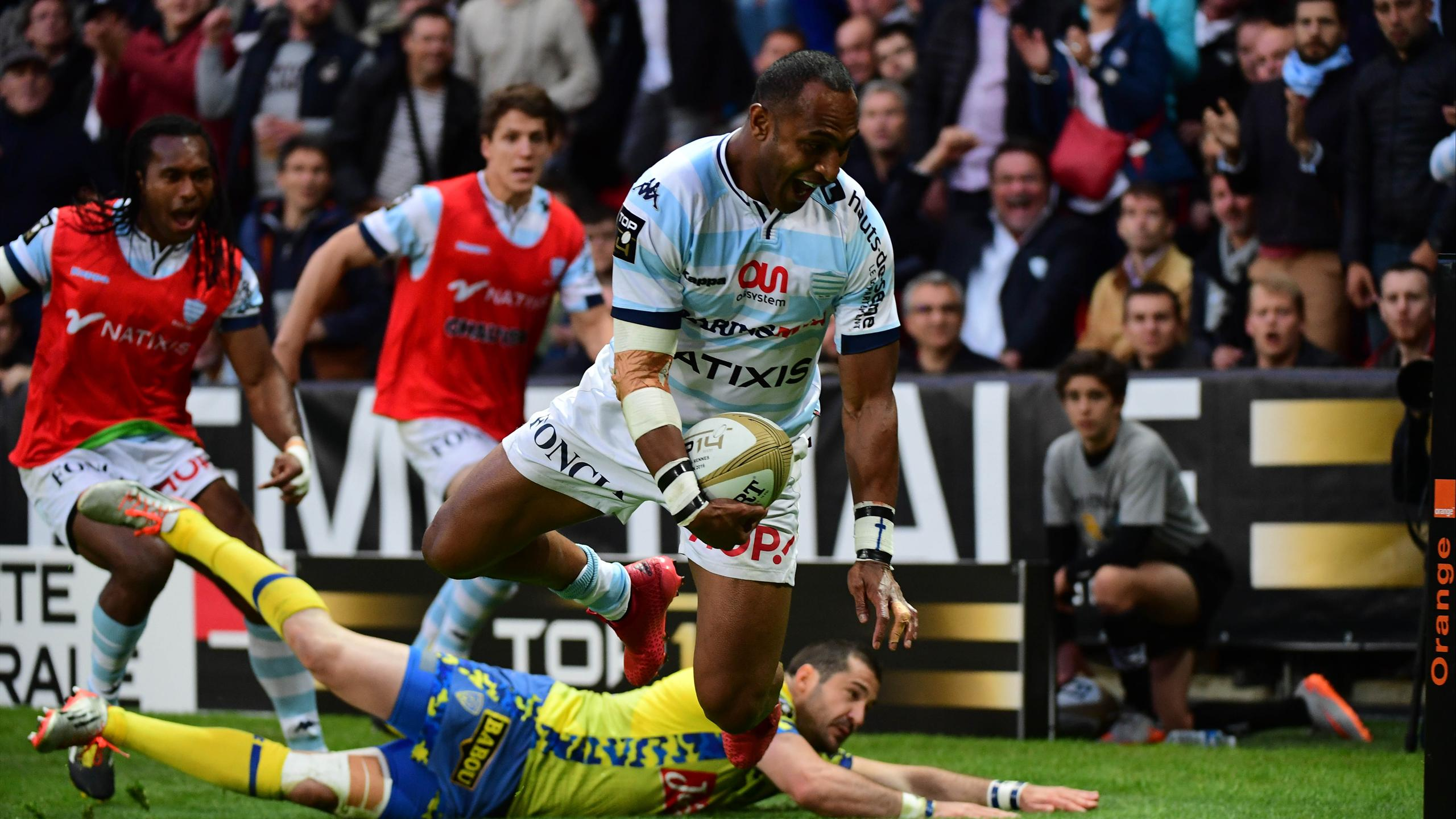 La joie de Joe Rokocoko (Racing 92) contre Clermont - 17 juin 2016