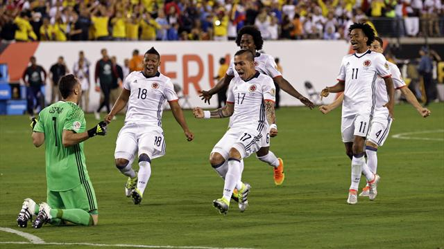 Colombia reach Copa America semi-finals after shootout win over Peru