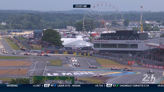 Safety car goes in and racing gets going at Le Mans