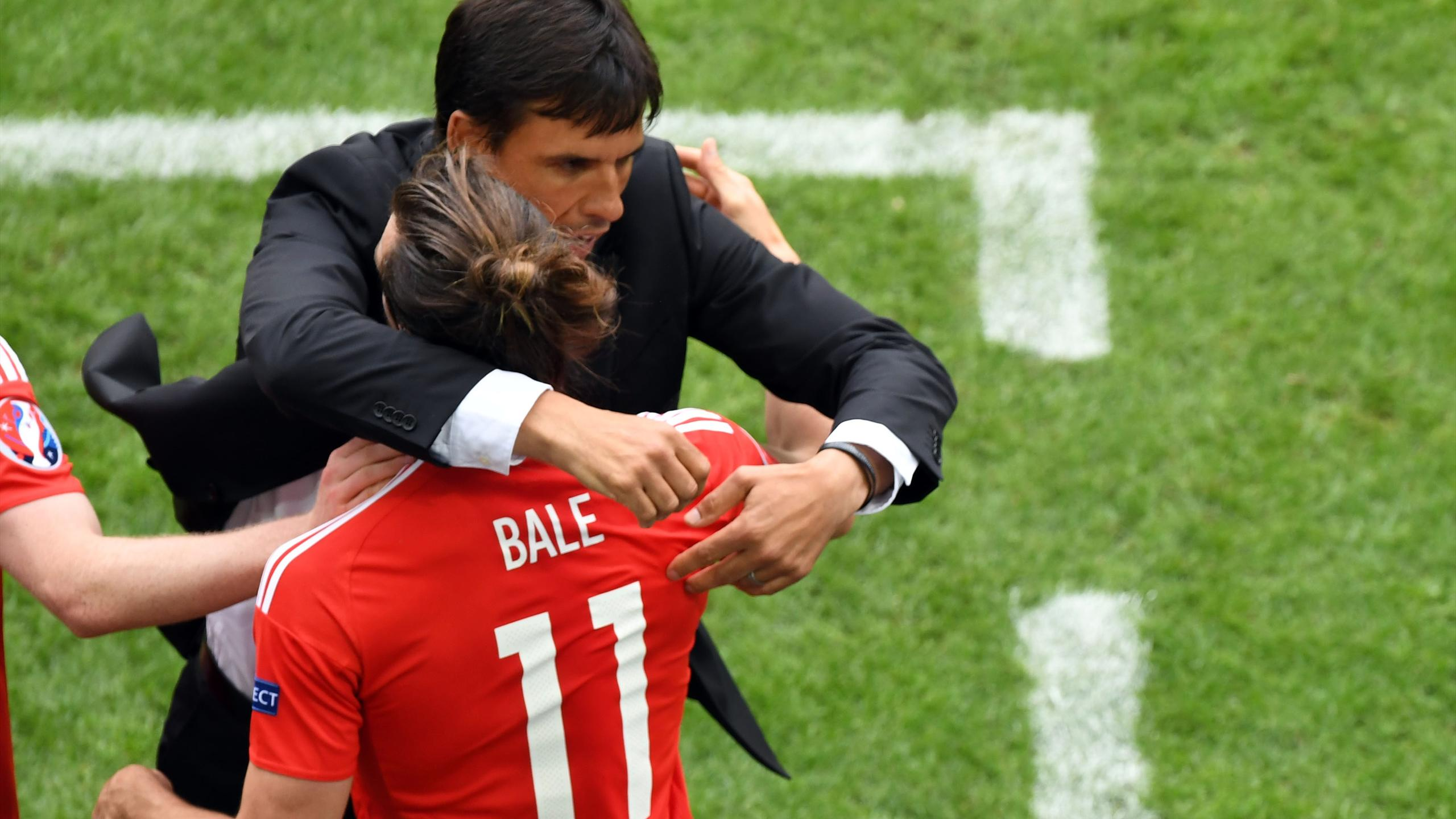 Chris Coleman and Gareth Bale - Wales - Euro 2016