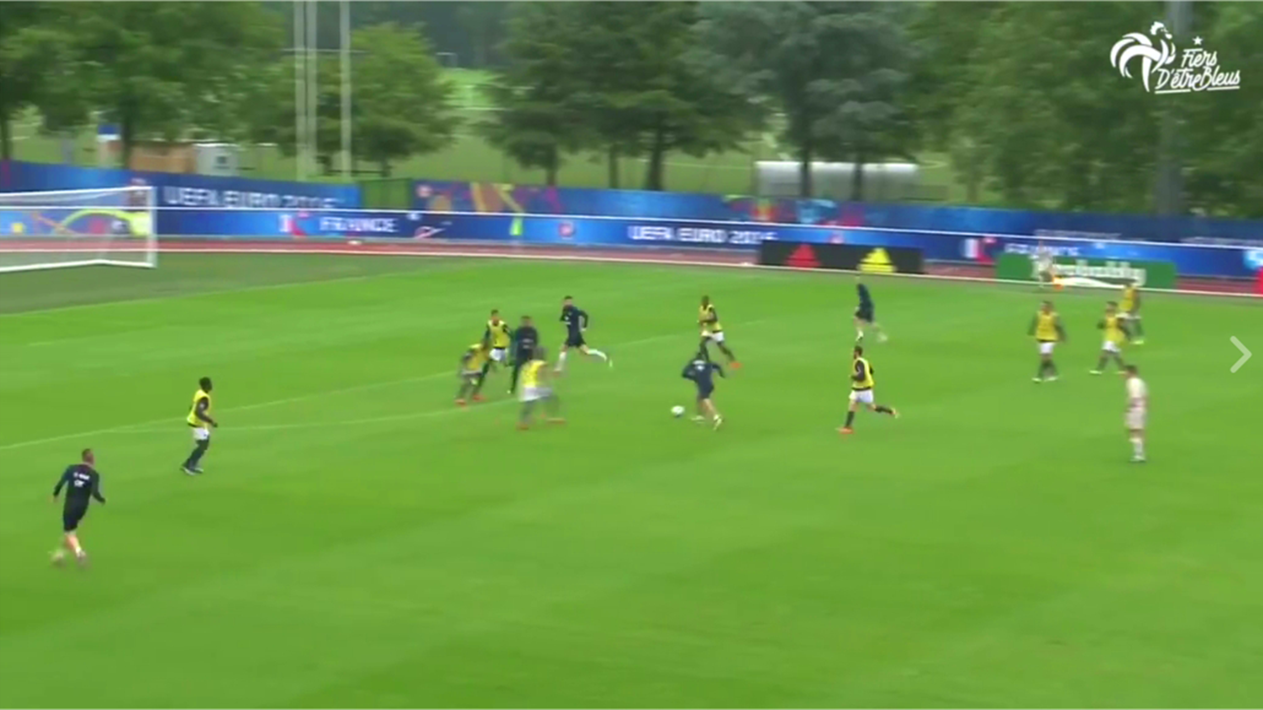France's Dimitri Payet scores a stunning goal in training at Euro 2016 (Facebook)