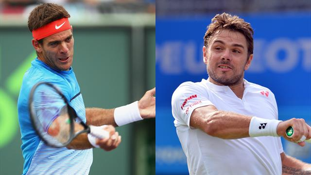 Tennis : Wawrinka-Del Potro, Tsonga-Isner? Les 7 matches qu'on a envie de voir en premi�re semaine