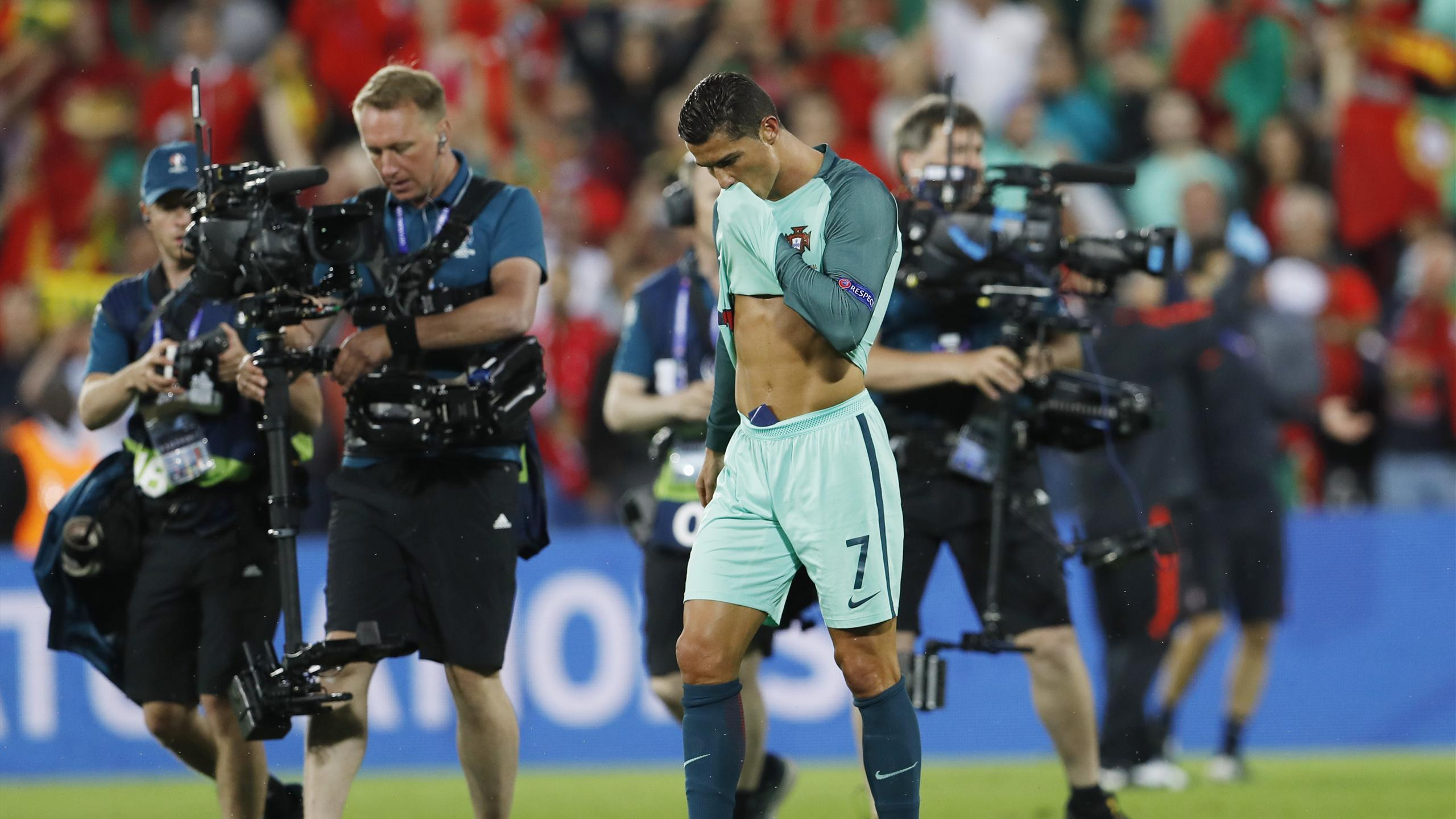 Portugal's Cristiano Ronaldo celebrates in a muted fashion after the win over Croatia at Euro 2016