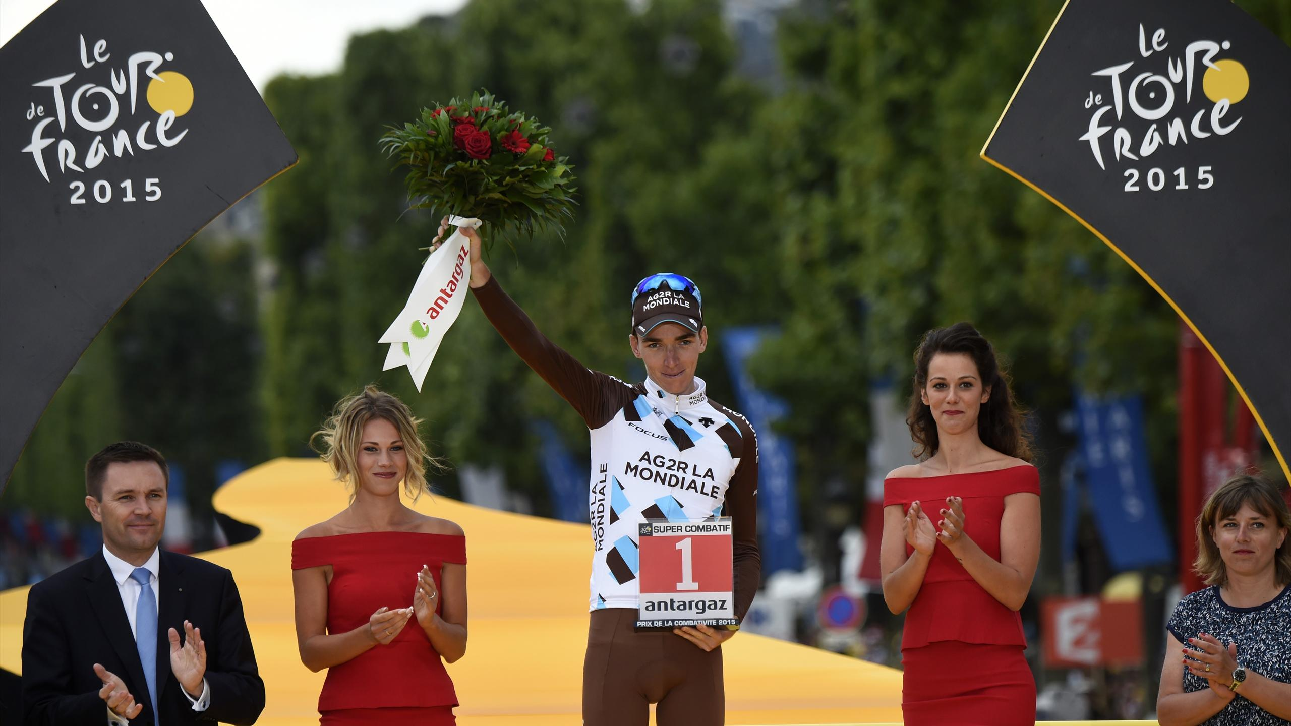 Romain Bardet, coureur le plus combatif du Tour en 2015
