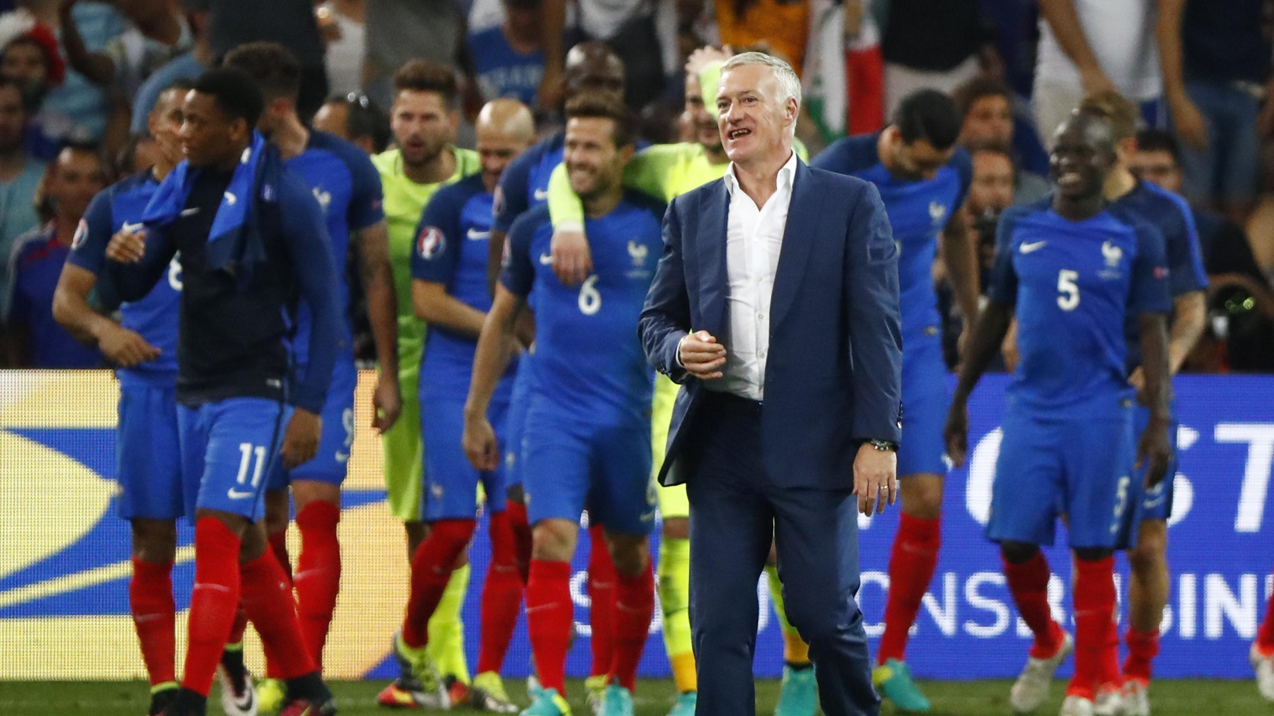 France Head Coach Didier Deschamps at the end of the game
