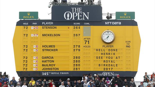 Henrik Stenson wins British Open, beating Phil Mickelson