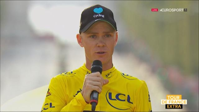 Froome dedicates win to son, pays tribute to Nice victims