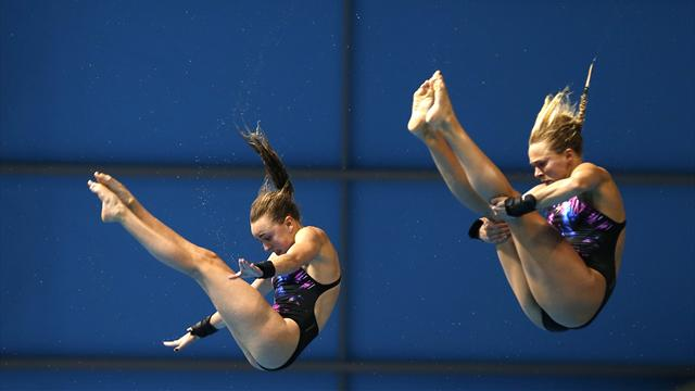 Tonia Couch and Lois Toulson not bothered by Rio 2016 green pool