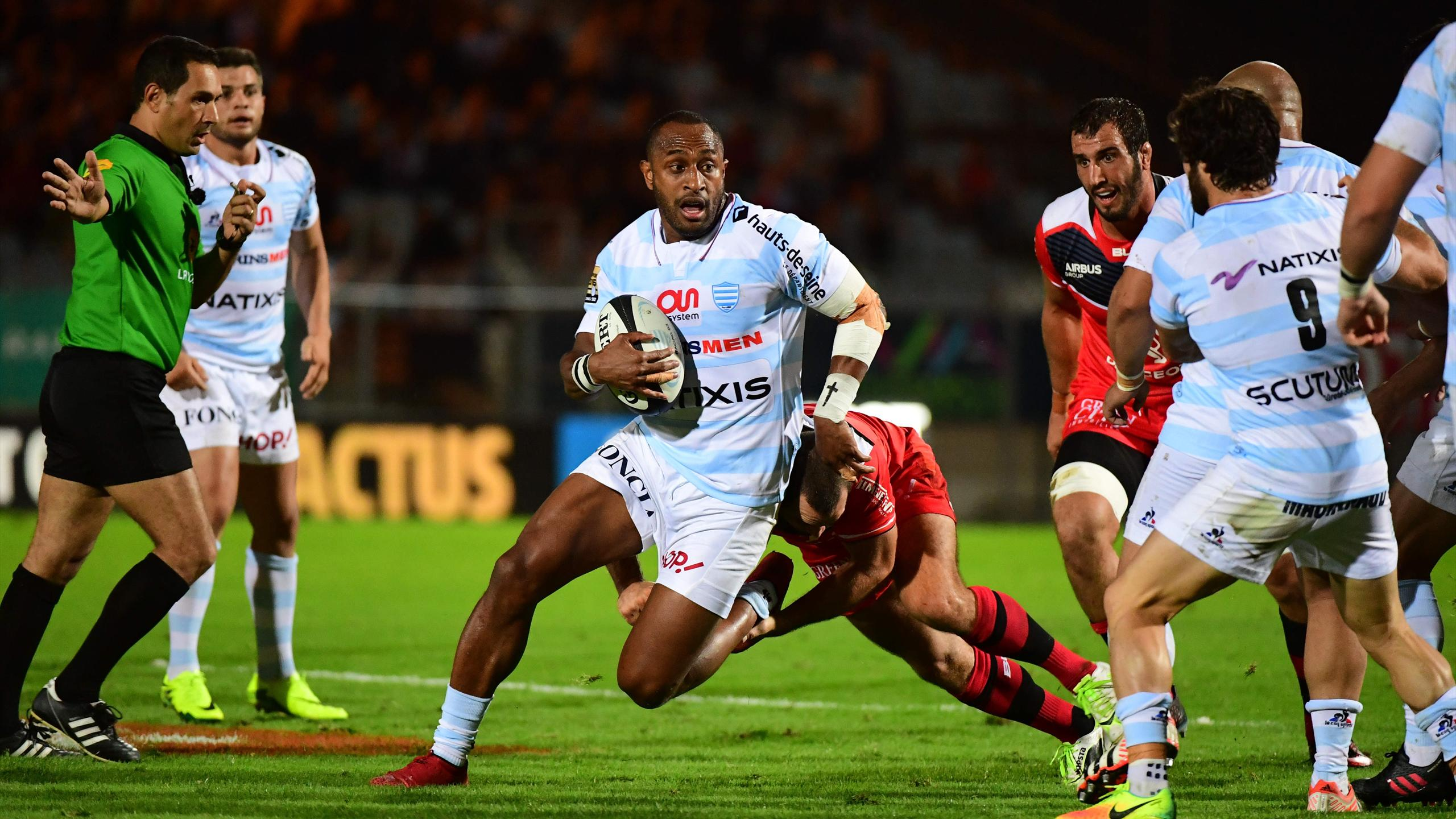 Joe Rokocoko (Racing 92) face à Toulouse - 4 septembre 2016