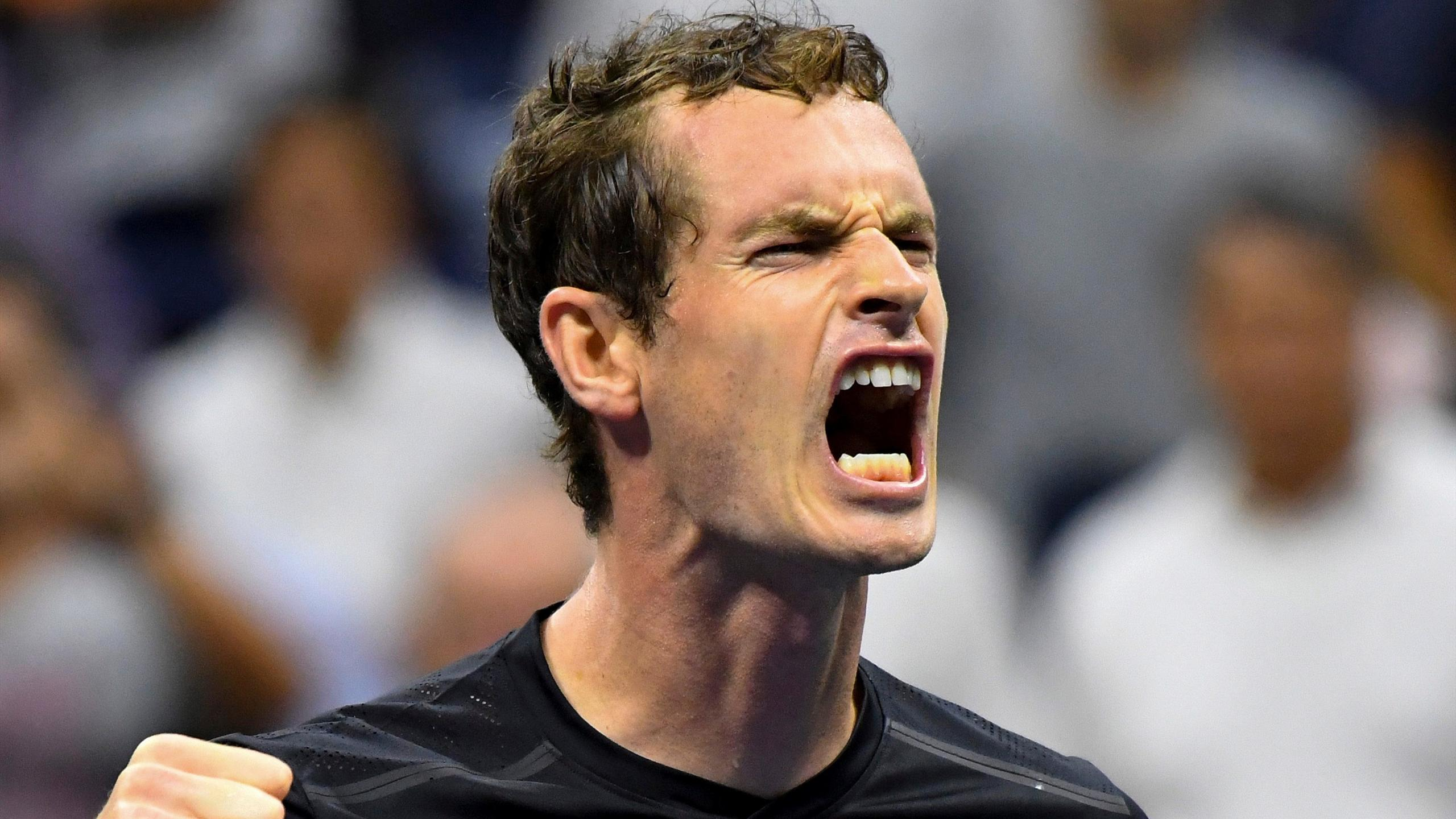 Andy Murray of Great Britain after beating Grigor Dimitrov of Bulgaria on day eight of the 2016 U.S. Open tennis tournament at USTA Billie Jean King National Tennis Center