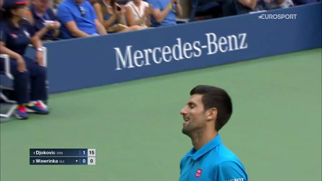 Djokovic wins staggering point in second game of US Open