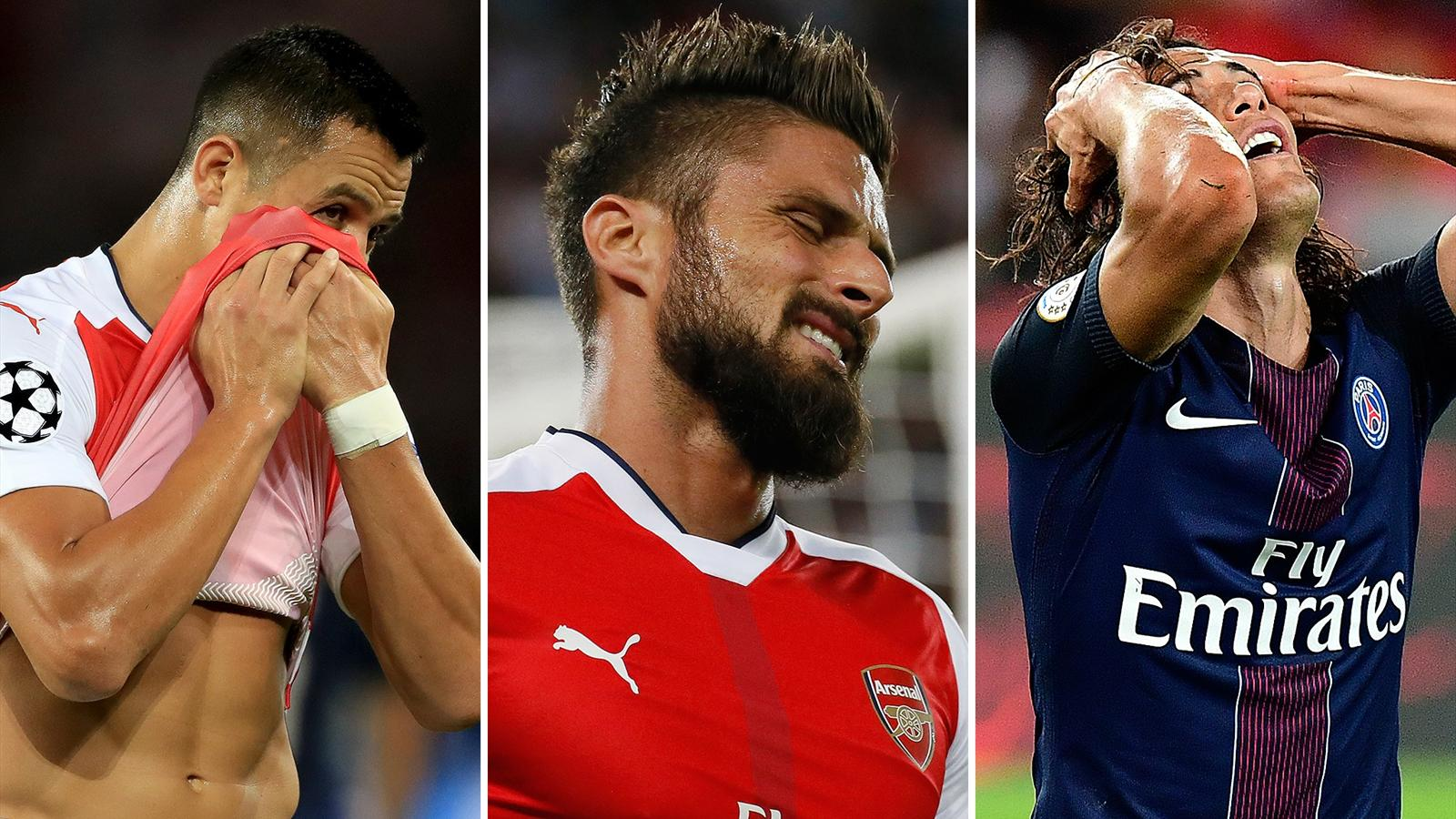 A study of three strikers: Arsenal, PSG and the quest to replace Giroud - Champions League 2015 ...