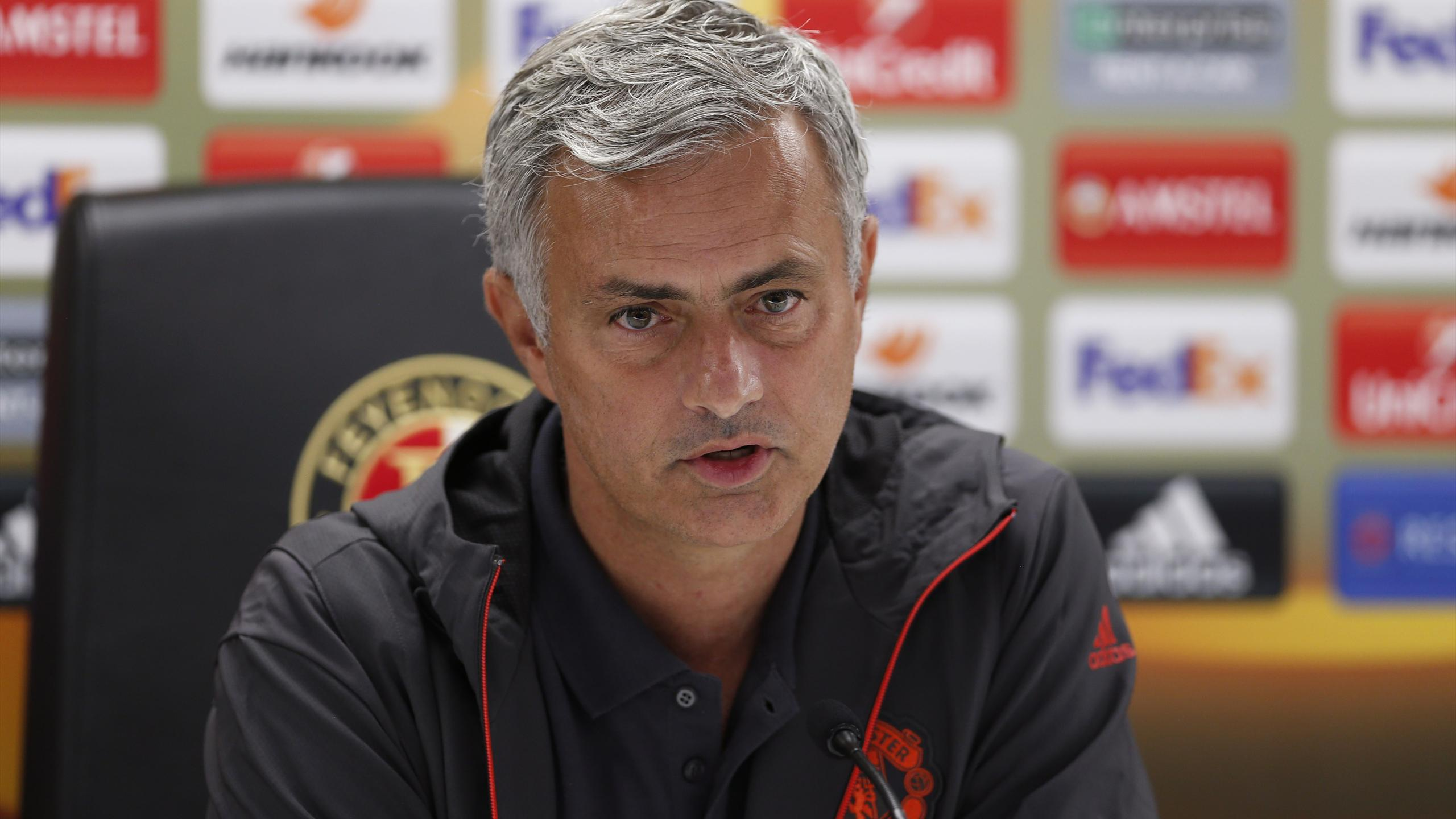 Manchester United manager Jose Mourinho during the press conference.