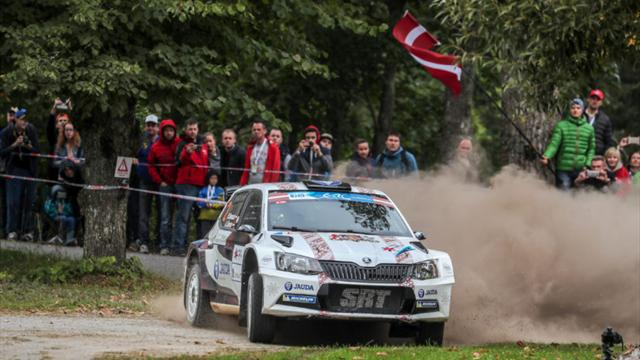 Home hero Sirmacis sets searing pace in Latvia
