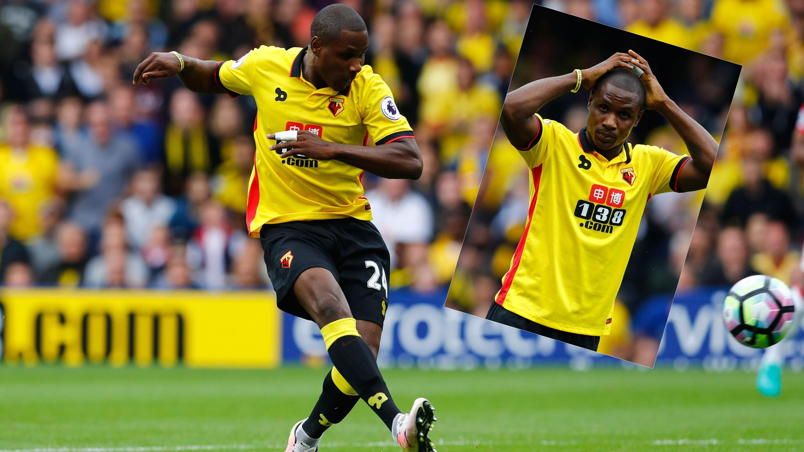 Odion Ighalo's inexplicable miss for Watford against Manchester United