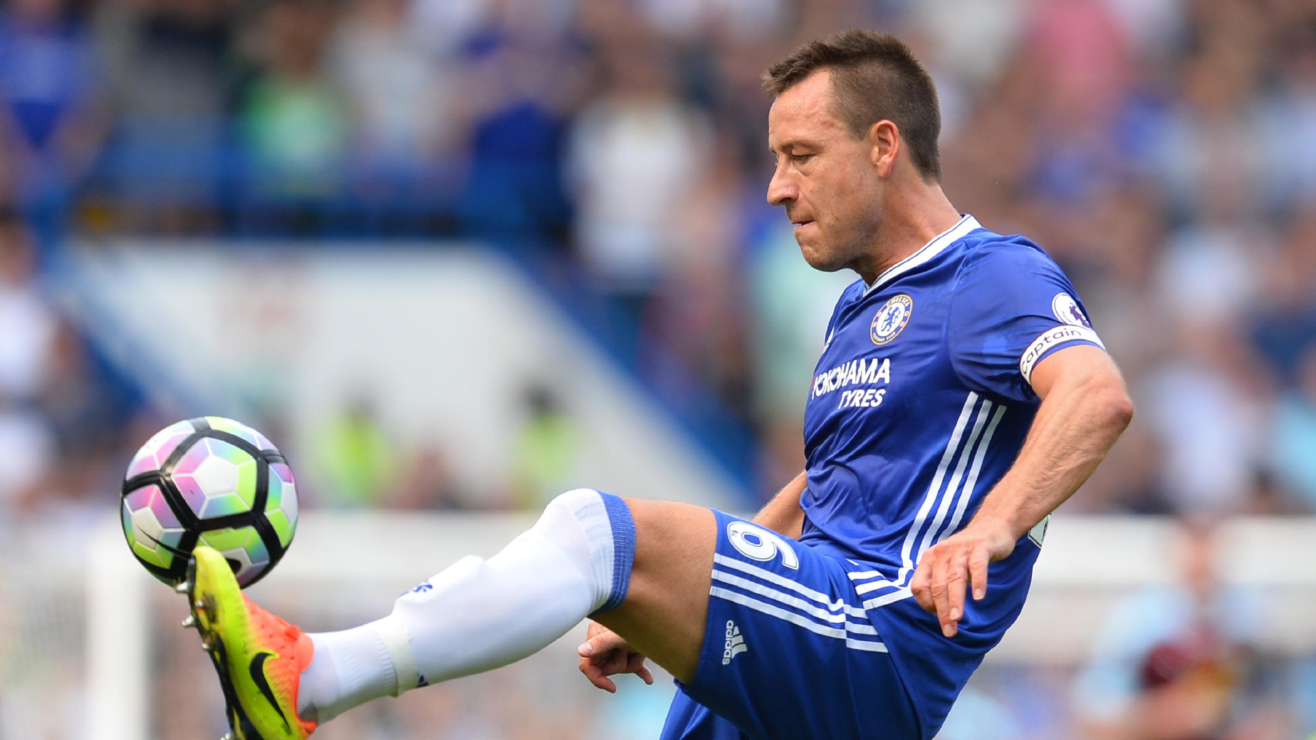 Chelsea's English defender John Terry controls the ball during the English Premier League football match between Chelsea and Burnley