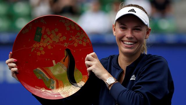 Wozniacki downs wildcard Osaka to win Pan Pacific Open