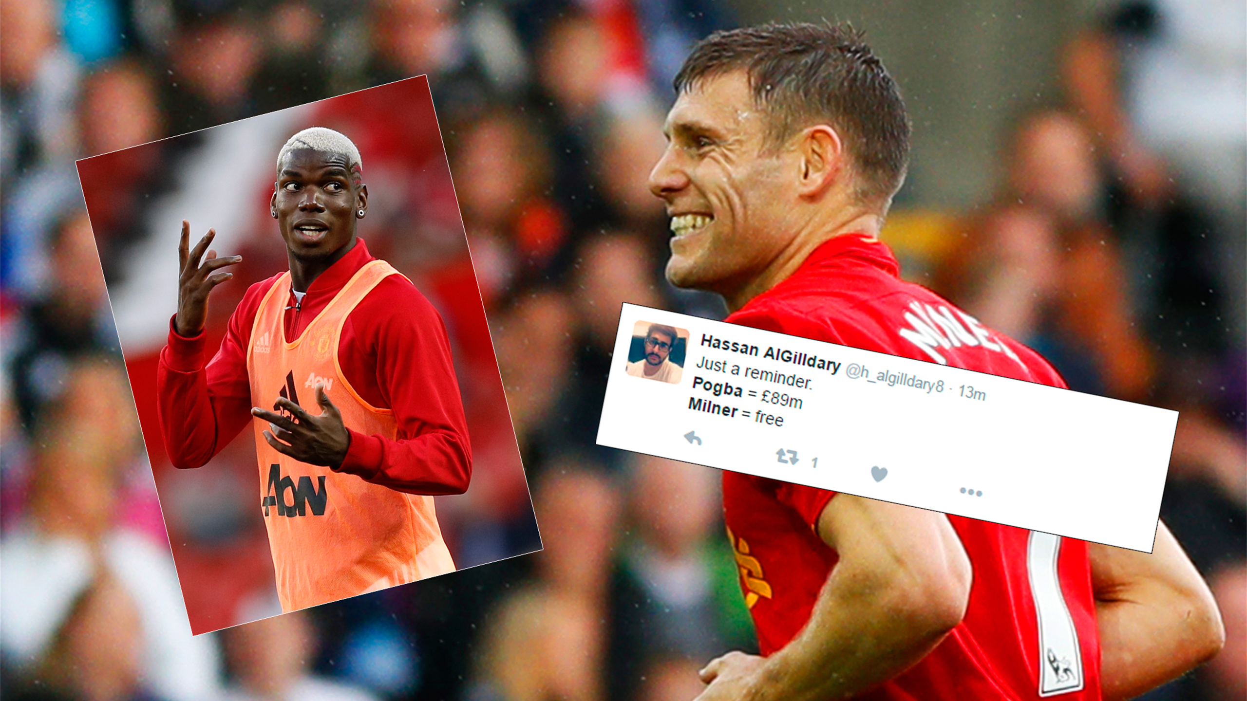 James Milner and Twitter reaction to comparisons between him and Paul Pogba
