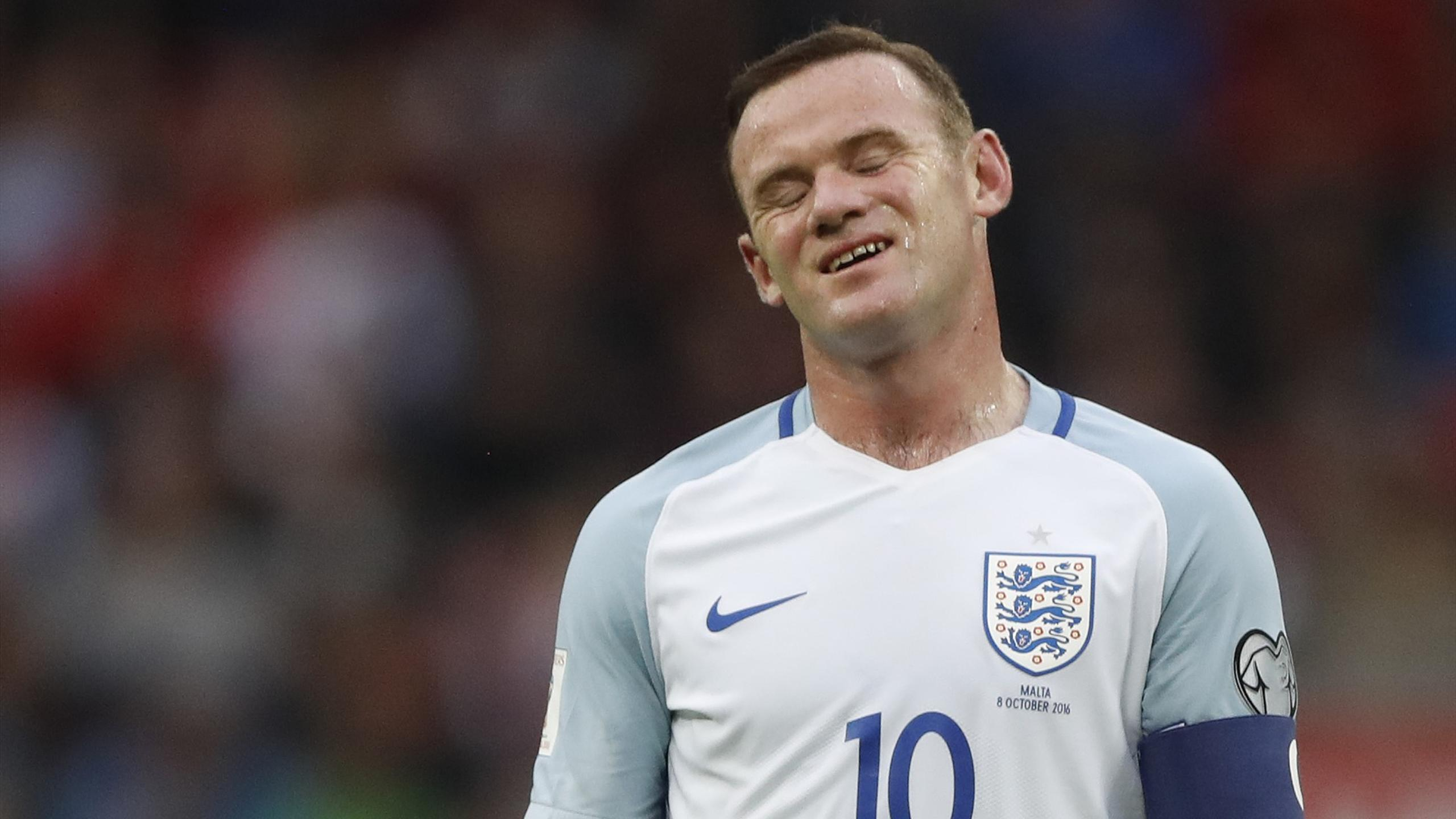 England captain Wayne Rooney looking frustrated