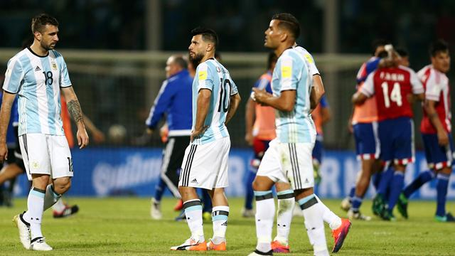 Aguero misses penalty as Messi-less Argentina beaten at home by Paraguay