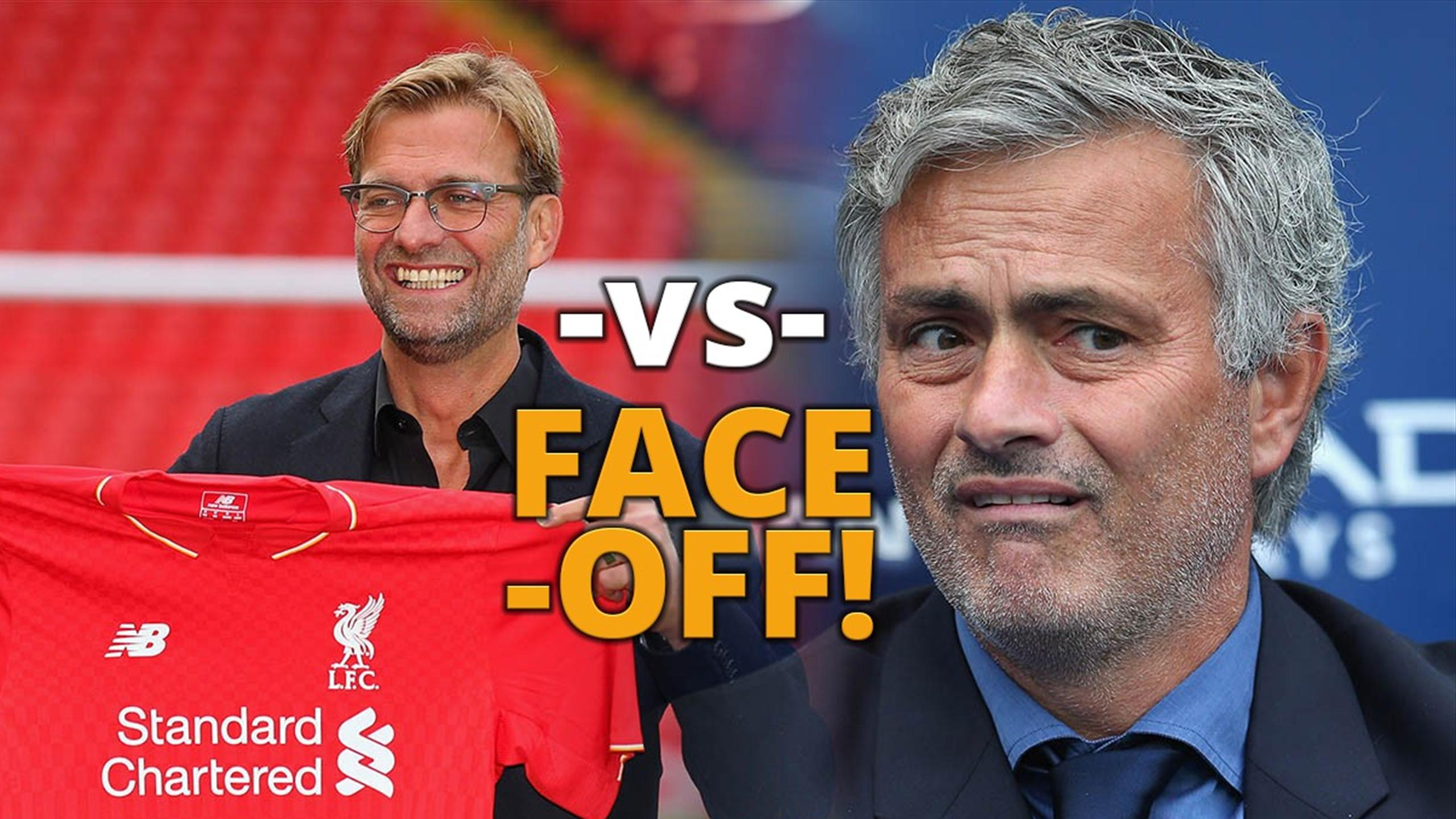 Face-off! It's Klopp vs Mourinho in the Liverpool vs Manchester United derby