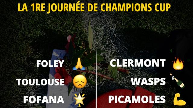 La 1re journée de Champions Cup en émojis