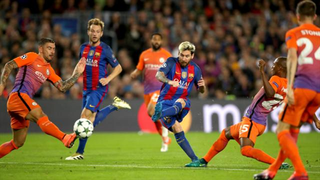 Lionel Messi hits hat-trick as Manchester City are well-beaten at Barcelona
