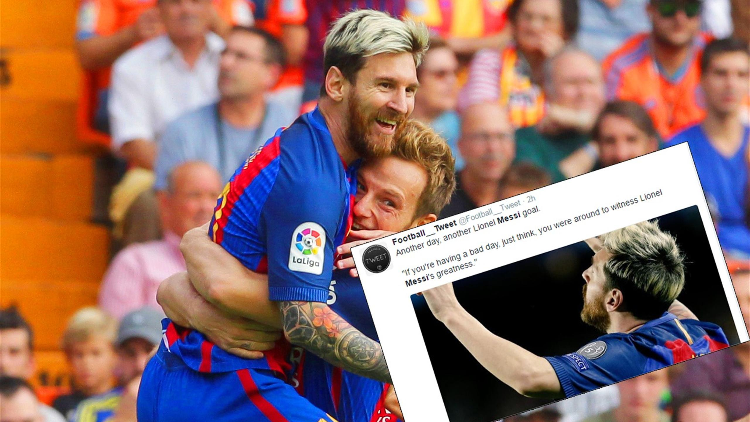 Twitter reaction to Lionel Messi and Barcelona's heroics