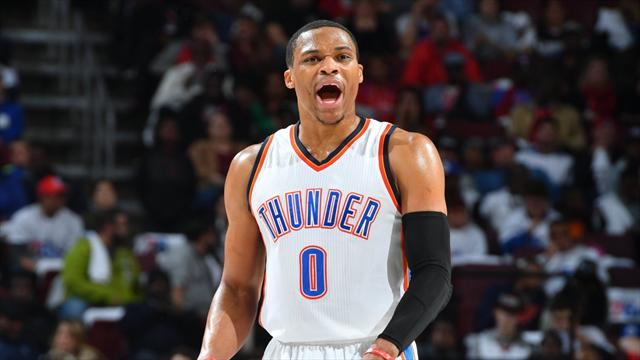 27 points, 14 passes décisives, 18 rebonds : la nouvelle performance XXL de Westbrook