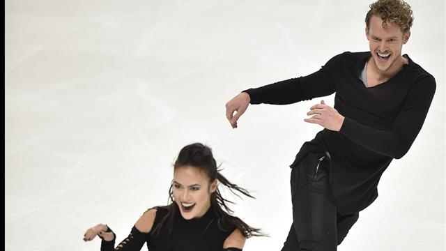 Chock and Bates dance to narrow lead on day one of Rostelecom Cup