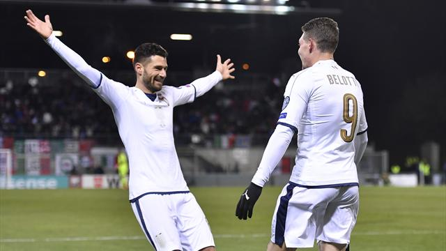 World Cup qualifying round-up: Four-star display from Italy in Liechtenstein