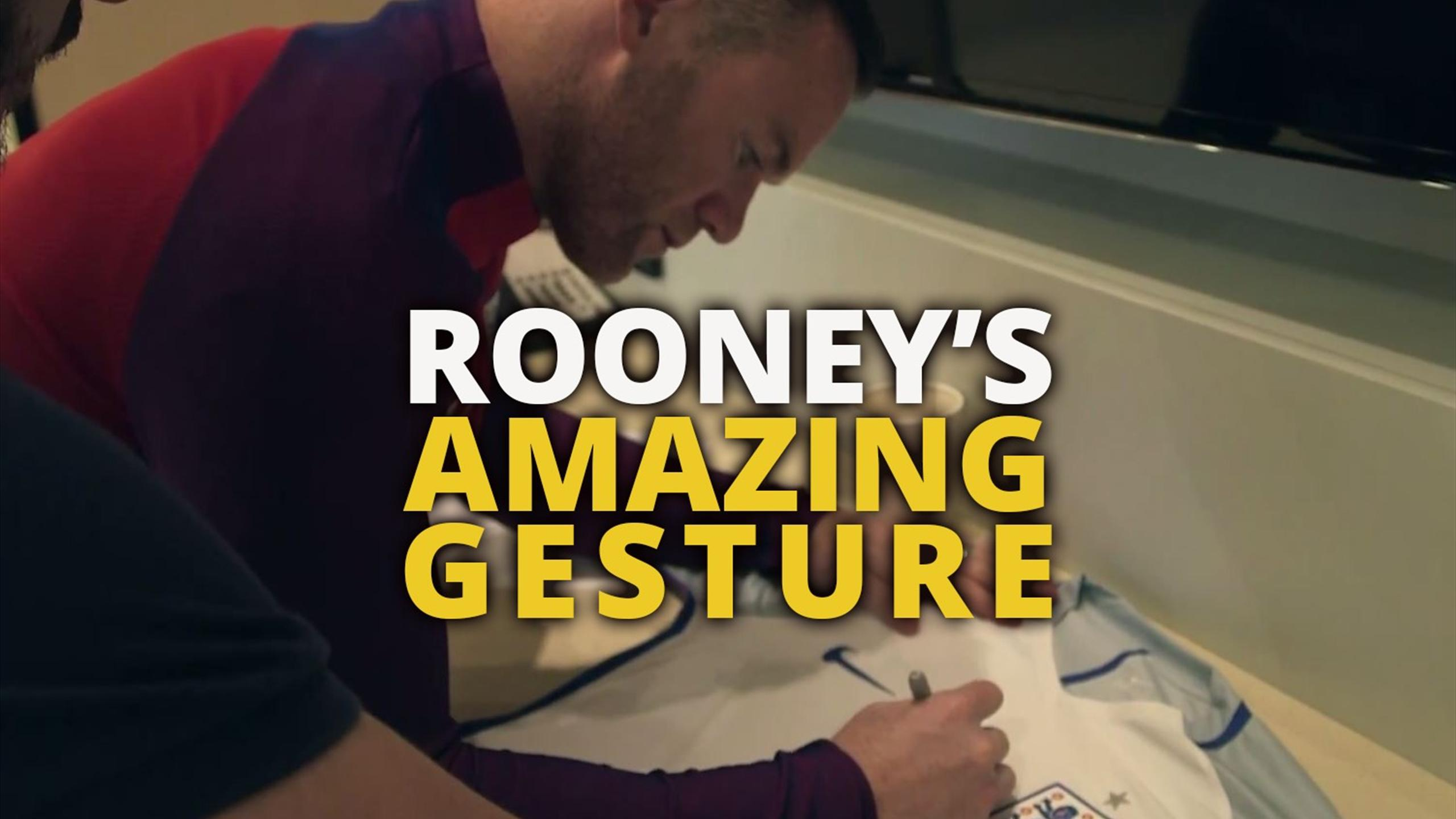 Wayne Rooney makes promise to a terminally ill fan