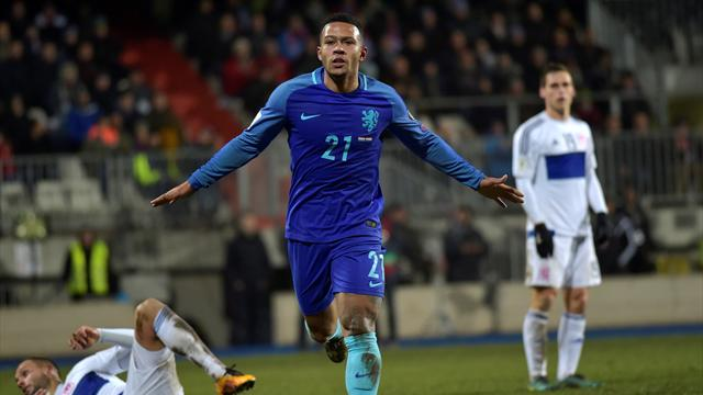Depay double seals victory for Netherlands against Luxembourg